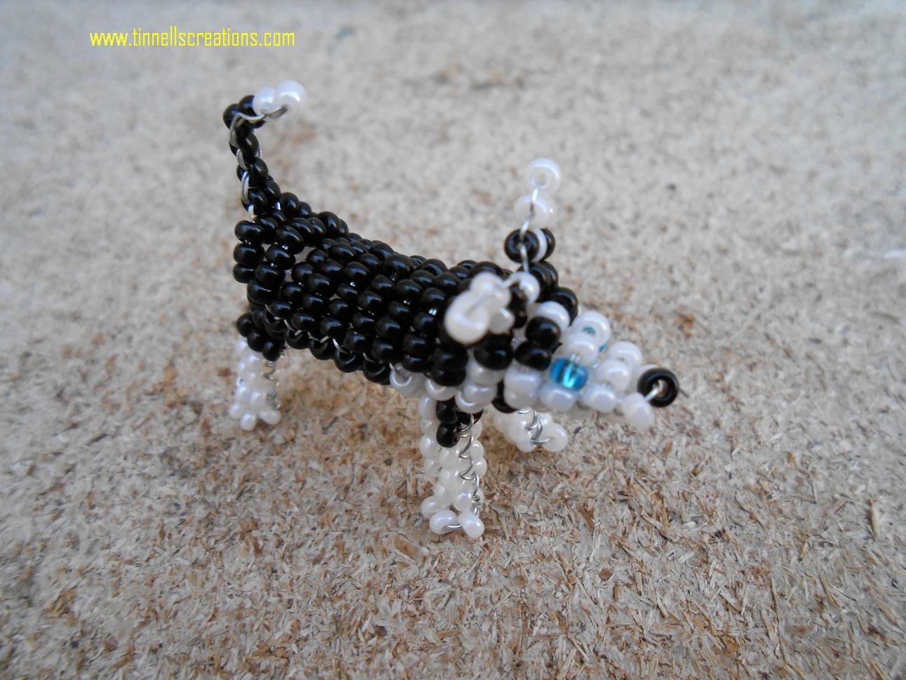 3D Beaded Husky
