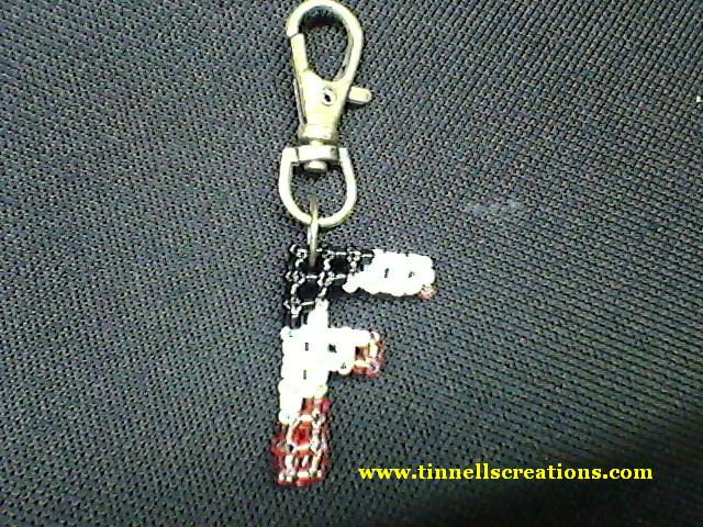 Beaded Keychain Charm