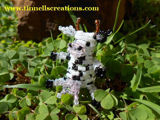 3D Beaded Mad Cow