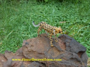 3D Beaded Cheetah