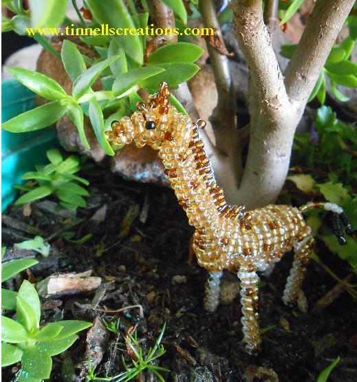 3D Beaded Giraffe